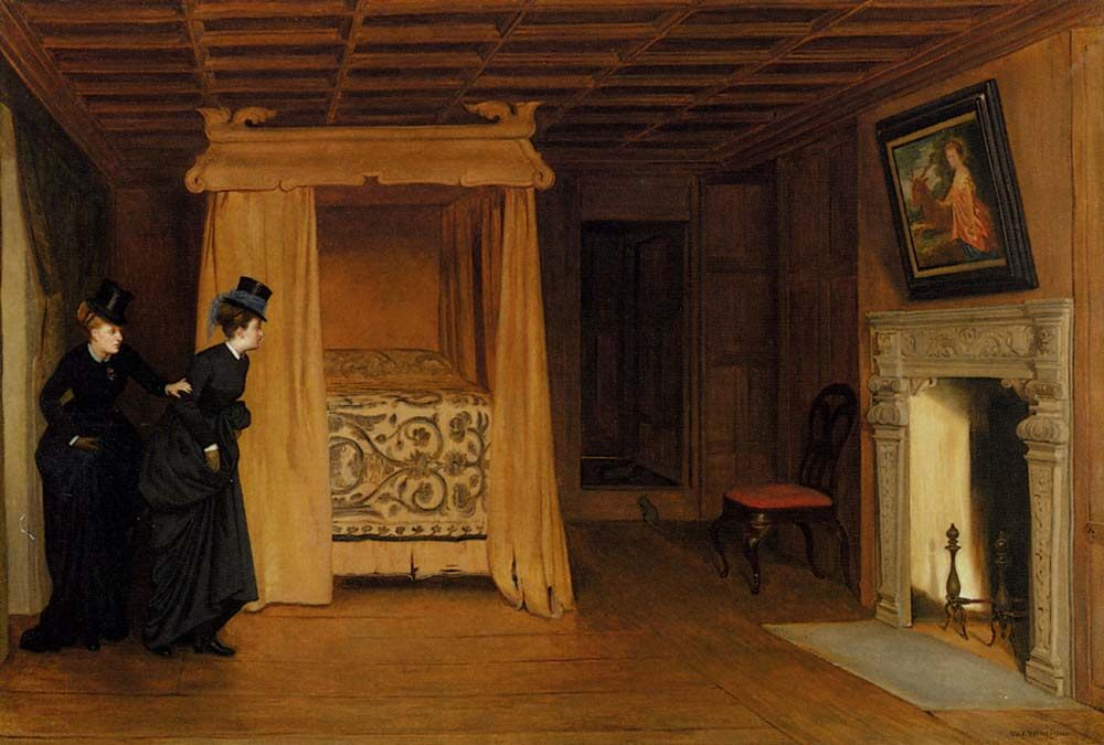 A Visit To The Haunted Chamber :: William Frederick Yeames - Interiors in art and painting фото