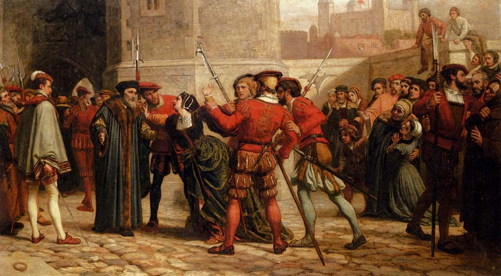The Meeting Of Sir Thomas More With His Daughter After His Sentence Of Death :: William Frederick Yeames  - History painting фото