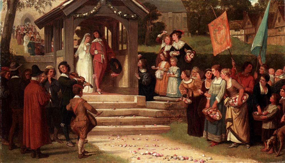 The Path Of Roses :: William Frederick Yeames - Wedding scene фото