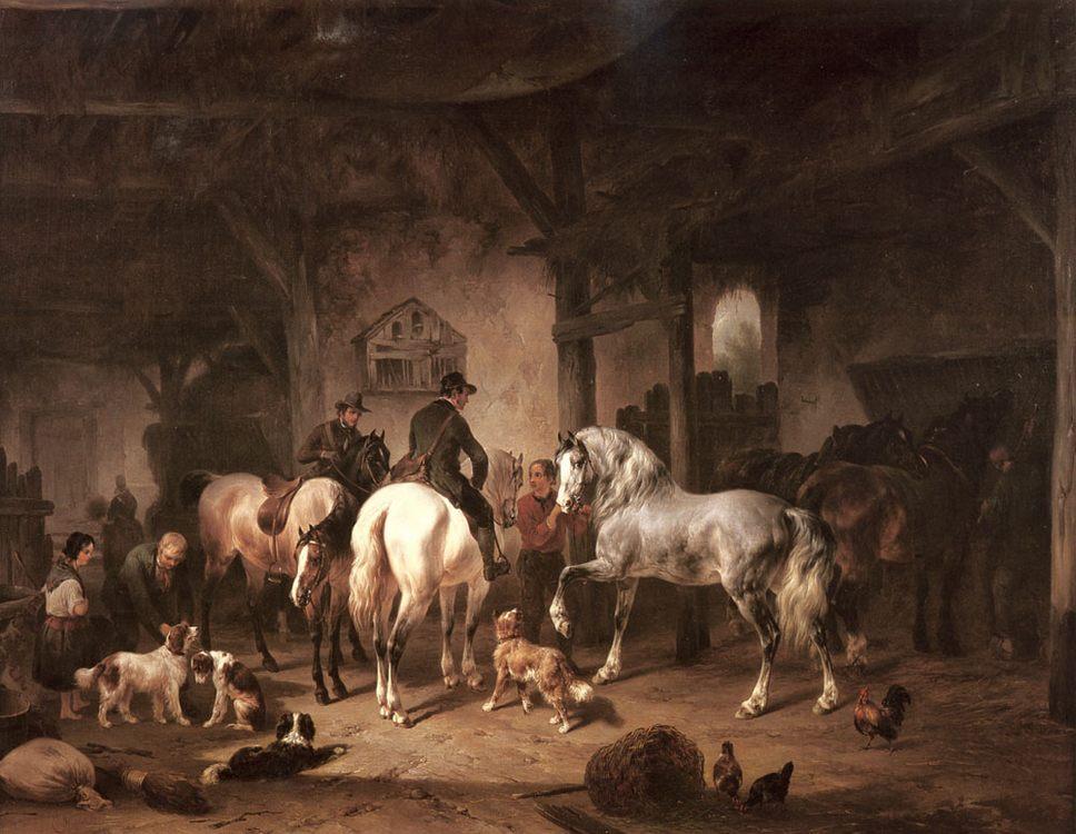 Preparing for the Hunt :: Wouter Verschuur - Hunting scenes ôîòî