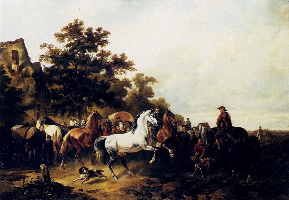 The Horse Fair :: Wouter Verschuur - Horses in art фото