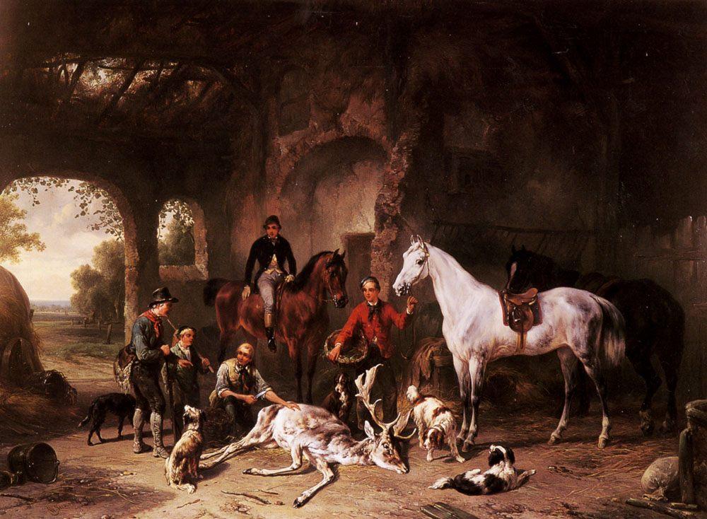 The Return from the Hunt :: Wouter Verschuur - Hunting scenes ôîòî