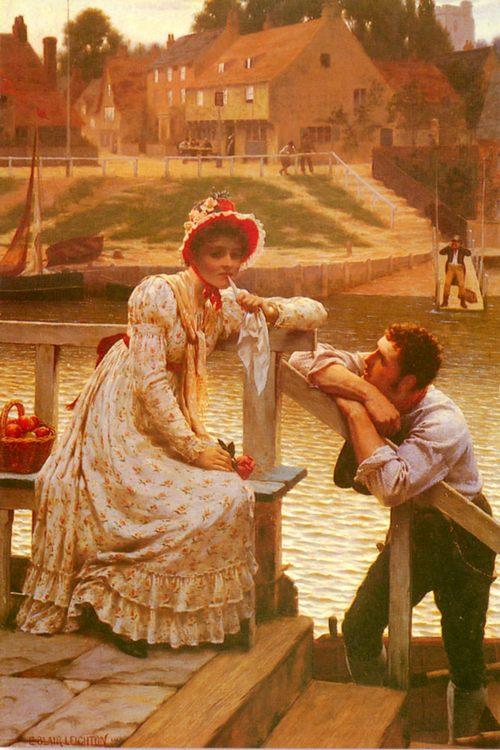 Courtship :: Edmund Blair Leighton - Romantic scenes in art and painting фото