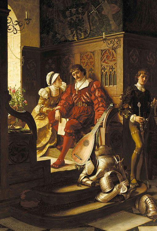 Duty :: Edmund Blair Leighton - Romantic scenes in art and painting фото