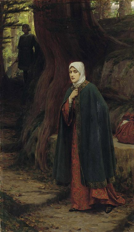 Forest Tryst :: Edmund Blair Leighton - Romantic scenes in art and painting ôîòî