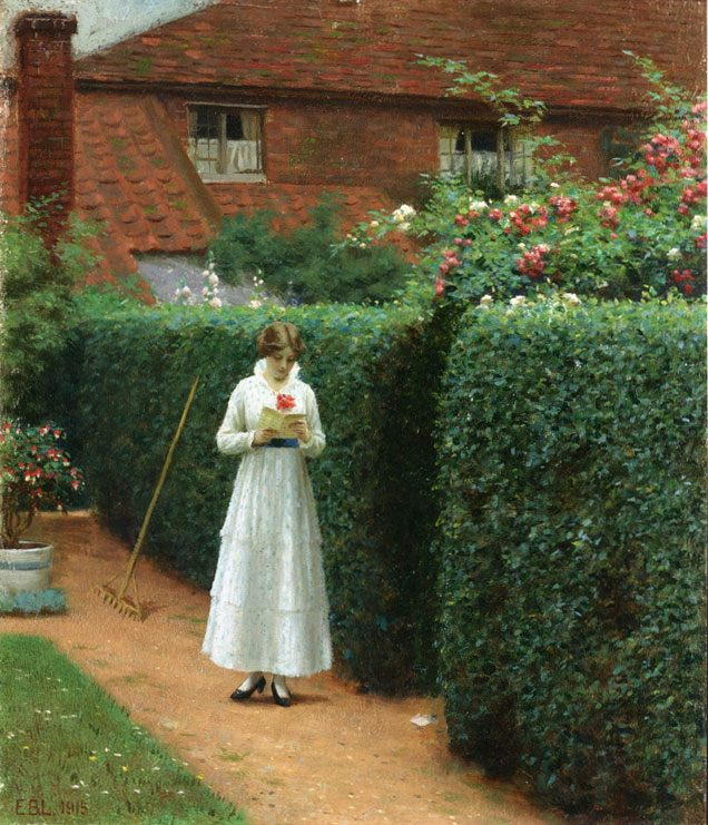 the Ticket :: Edmund Blair Leighton - Summer landscapes and gardens ôîòî