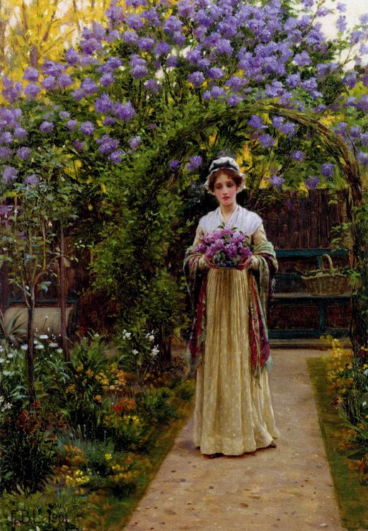 Lilac :: Edmund Blair Leighton - Summer landscapes and gardens фото
