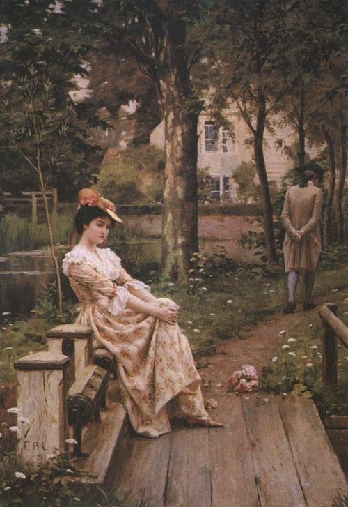 Off :: Edmund Blair Leighton  - Romantic scenes in art and painting фото
