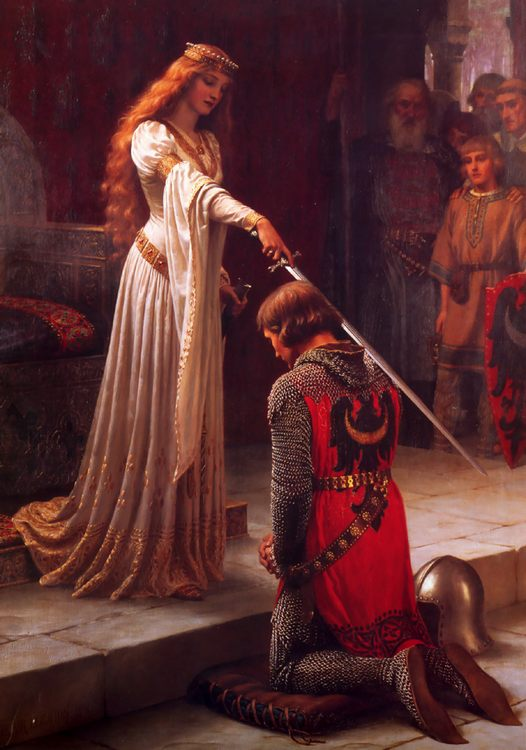 The Accolade :: Edmund Blair Leighton - Antique world scenes ôîòî