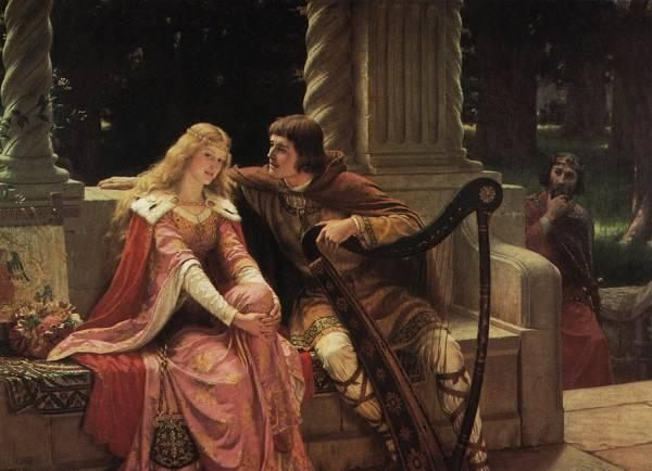 The End of The Song :: Edmund Blair Leighton  - Romantic scenes in art and painting фото