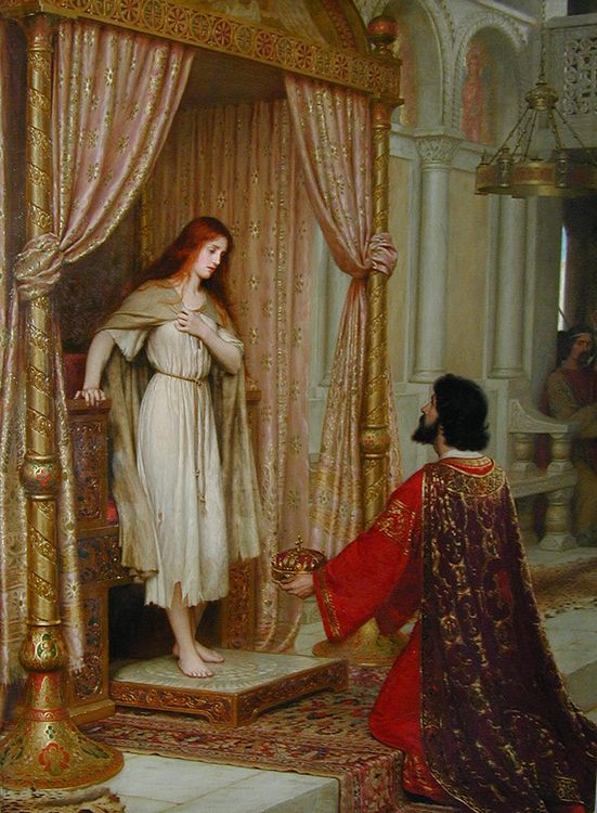 The King and the Beggar-maid :: Edmund Blair Leighton - Antique world scenes фото