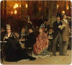 "Ilya Repin's masterpiece ""Paris cafe"" - user art painting gallery фото"