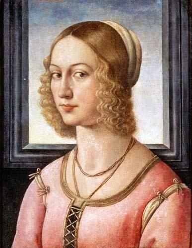 Portrait of Giovanna Tornabuoni :: Domenico Ghirlandaio - 1 women portraits 15th century hall ôîòî