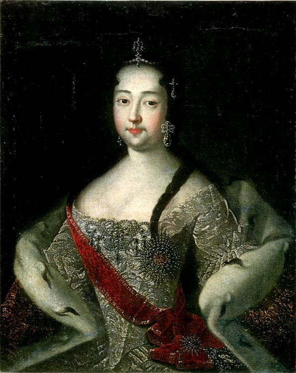 Portrait of Princess Anna Petrovna :: Adolsky Ivan - 4 women's portraits 18th century hall фото