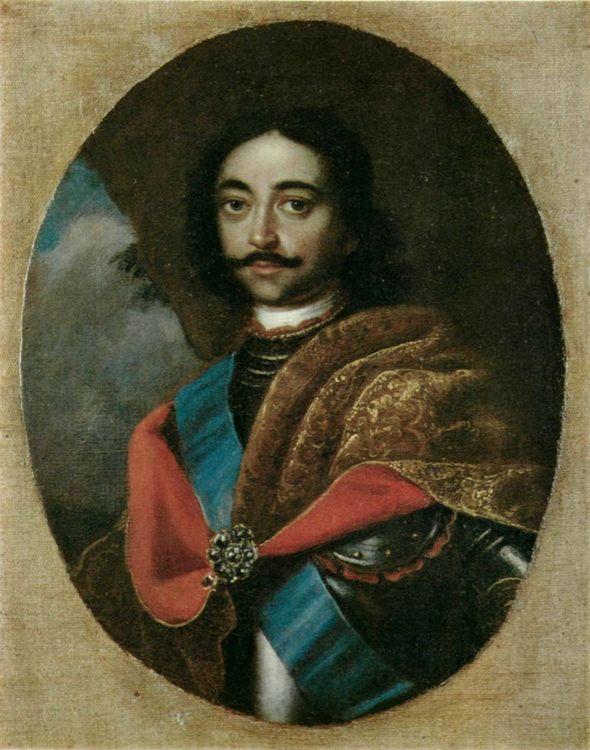 Portrait of Peter I :: Adolsky Ivan - men's portraits 18th century фото
