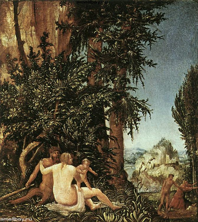 Landscape with Satyr Family, 1507 The State Museum Picture Gallery, Berlin - user art painting gallery фото