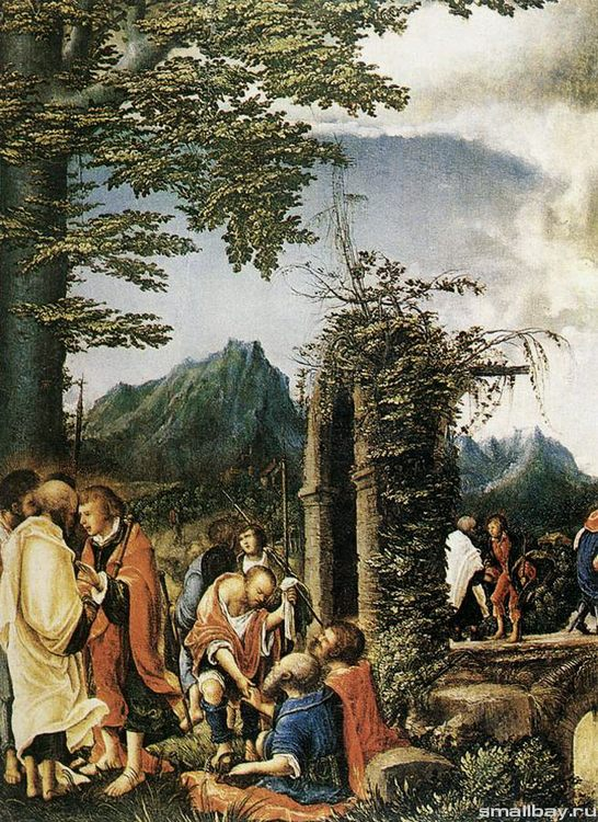 Communion of the Apostles, 1516-1518 The State Museum Picture Gallery, Berlin :: Albrecht Altdorfer - user art painting gallery фото