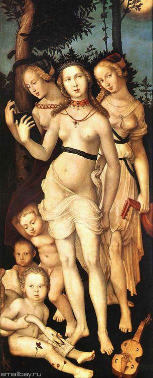 The Three Graces, 1540, Prado, Madrid :: Hans Baldung - user art painting gallery фото