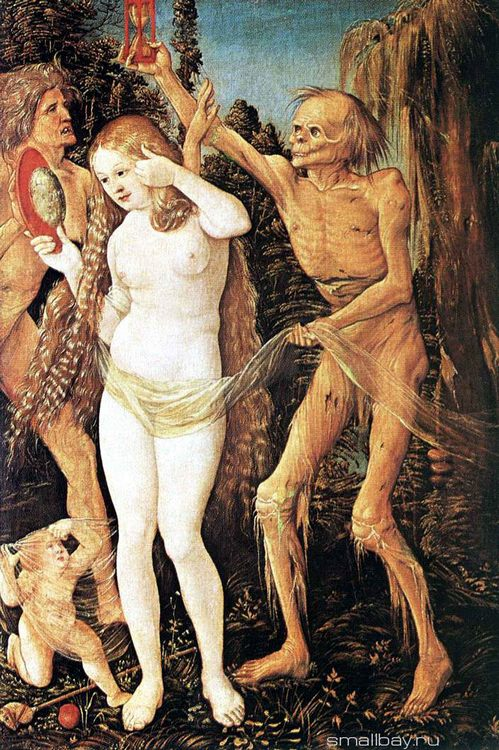 Three women aged and Death, 1511 :: Hans Baldung - user art painting gallery фото