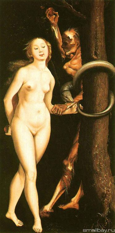 Eve, the serpent, and death, 1510-1512 :: Hans Baldung - user art painting gallery фото