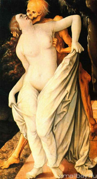 Death and the Maiden 1520 :: Hans Baldung - user art painting gallery фото