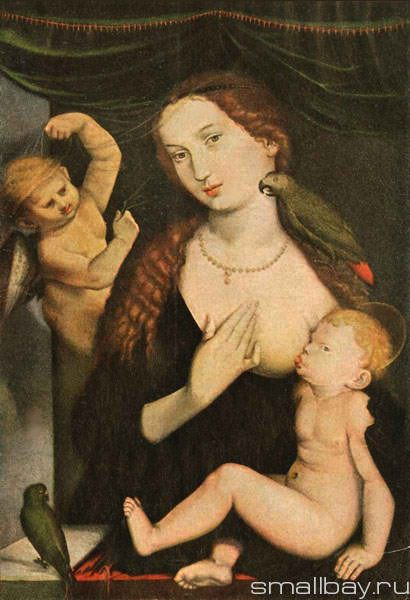 Madonna with the Parrot 1528 :: Hans Baldung - user art painting gallery фото