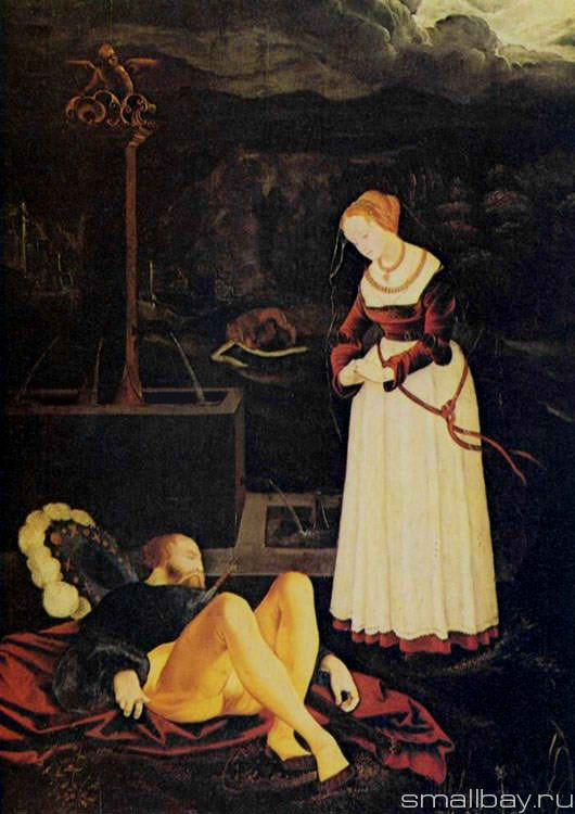 Pyramus and Thisbe 1531 :: Hans Baldung - user art painting gallery фото