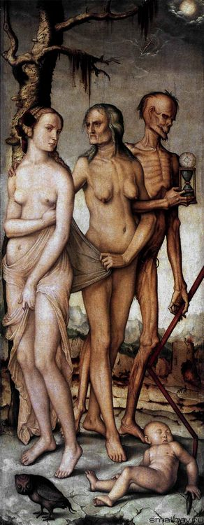 Three aged of women 1539 :: Hans Baldung - user art painting gallery фото