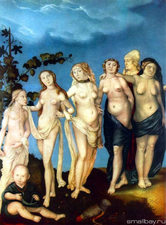 Seven women age, 1510 :: Hans Baldung - user art painting gallery фото