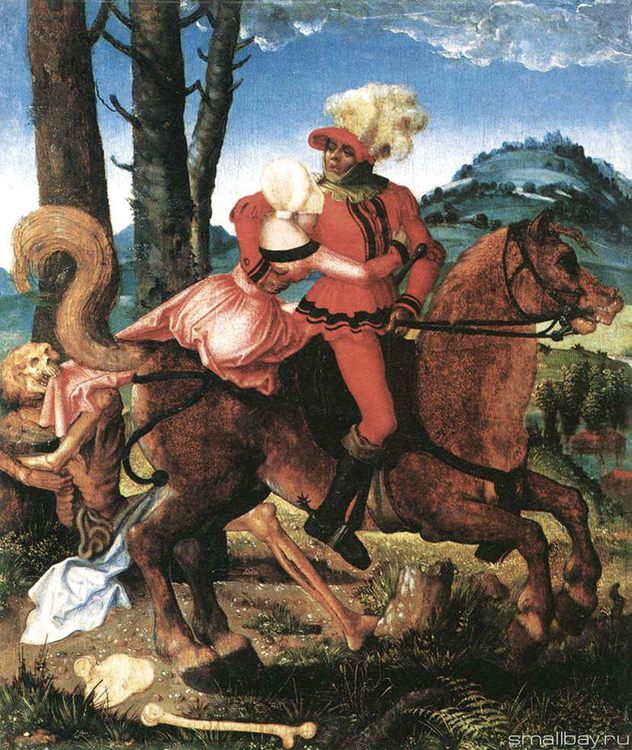 Knight, Death and the Girl, 1505 :: Hans Baldung - user art painting gallery фото
