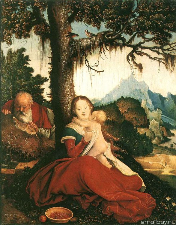 Rest on the Flight into Egypt 1514 :: Hans Baldung - user art painting gallery ôîòî
