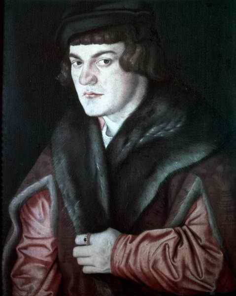 Hans Baldung, Self-Portrait 1526 - men's portraits 16th century фото