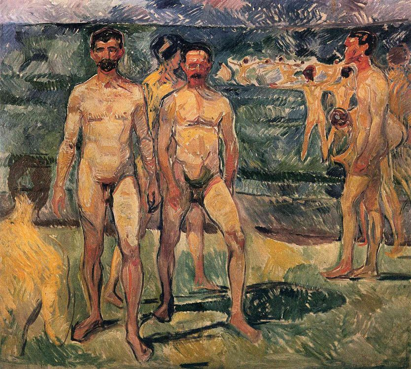 The men on the beach :: Munch, Edvard - nude men ôîòî