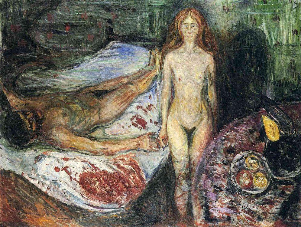 Death of Marat I (1907) :: Munch, Edvard - nude men фото