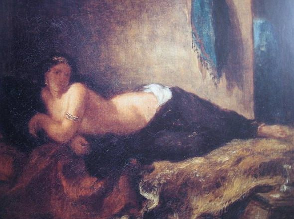 "Eugene Delacroix. ""Odalisque, Lying on the Couch."" 1846. Paris. Louvre - Scenes of Harem Life in West European Painting"