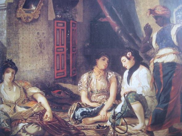 "Eugene Delacroix. ""Women of Algiers."" 1834. Paris. Louvre. - Scenes of Harem Life in West European Painting"