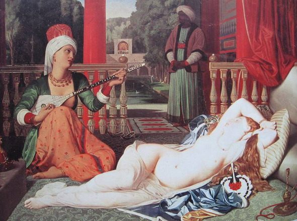 "Jean Auguste Dominique Ingres. ""Odalisque with a Slave."" 1842. Walter's Art Museum, Baltimore"