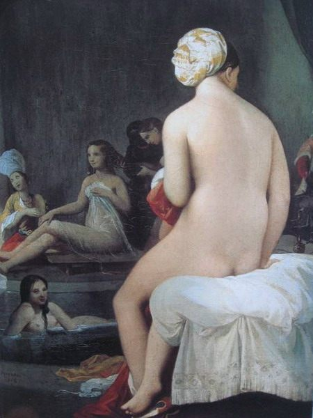 "Jean Auguste Dominique Ingres. ""Interior of a Harem."" 1828. Louvre, Paris"