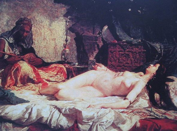 "Mariano Fortuny Marsal. ""Odalisque"". 1861. Museum of Fine Arts. Barcelona"