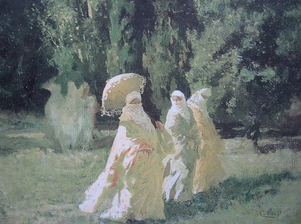 "Cesare Biseo ""The Favorites from the Harem in the Park."" Art Gallery, Piacenza"