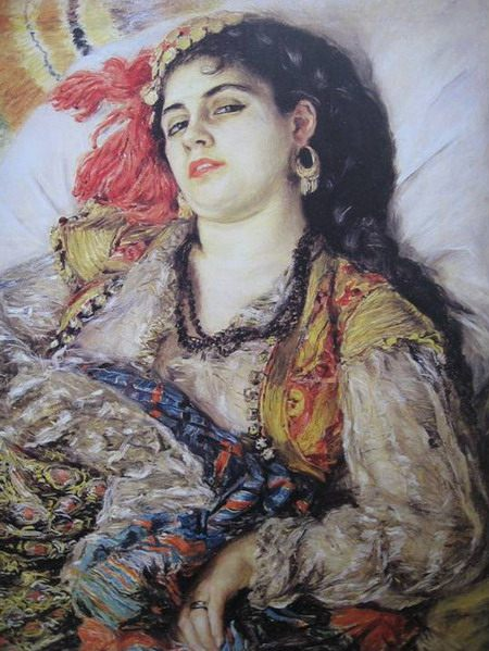 "Auguste Renoir. ""Odalisque from Algeria"". (detail) 1870. National Gallery of Fine Art, Washington"
