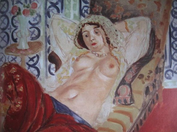 "Henri Matisse. ""Odalisque with Red Trousers."" (detail) 1922. National Museum of Modern Art, Paris"