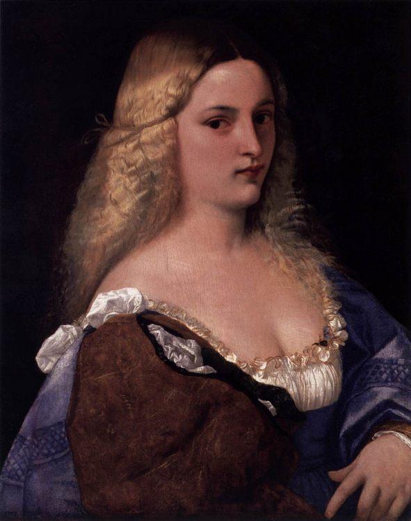 Violante (La Bella Gatta) by TIZIANO Vecellio - 2 women portraits 16th century hall фото