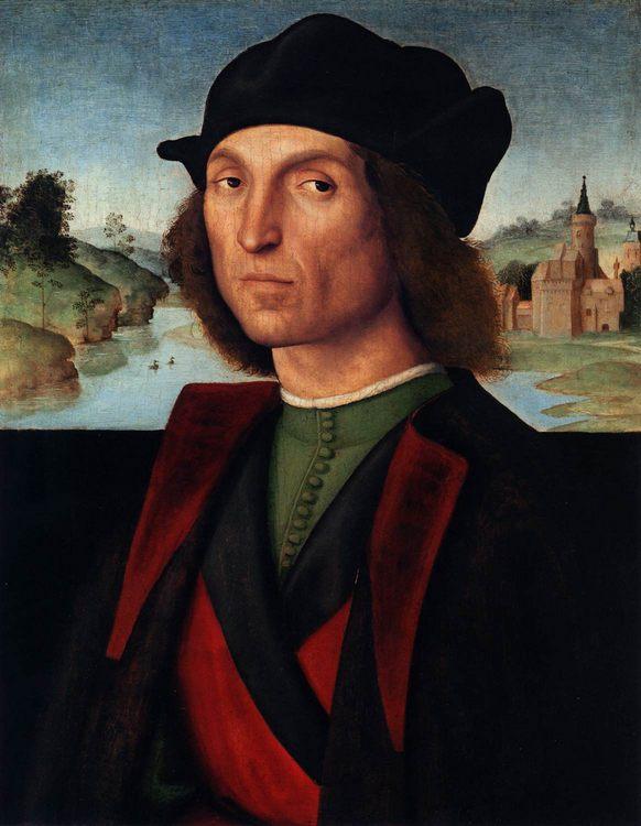 Portrait of a Man :: Raffaello Sanzio - men's portraits 16th century фото