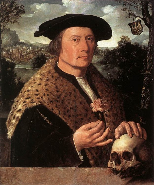 Pompeius Occo :: Jacobsz, Dirck  - men's portraits 16th century фото