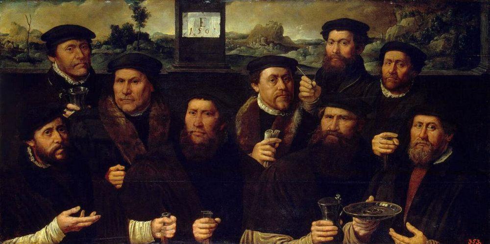 Group Portrait of the Amsterdam Shooting Corporation ::  Jacobsz, Dirck - men's portraits 16th century ôîòî