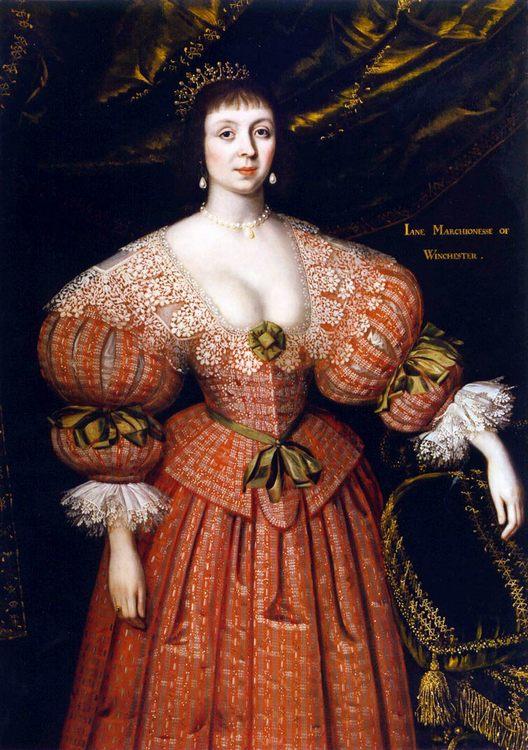 Portrait of Jane, Countess of Winchester :: Jackson, Gilbert - 3 women portraits 17th century hall фото