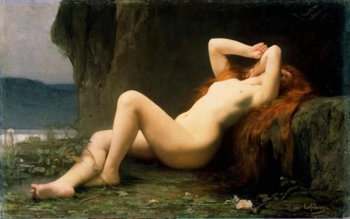 Jules Joseph Lefebvre, art and painting - Mary Magdalene in the grotto