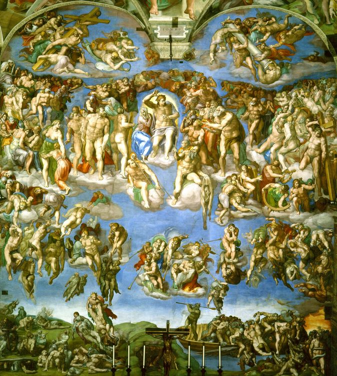 The Last Judgement :: Michelangelo - Bible scenes in art and painting фото