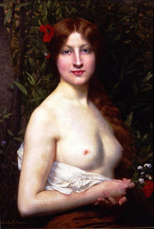 Half-naked young woman :: Jules Joseph Lefebvre - Nu in art and painting фото
